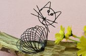 Comment faire un fil noir mignon enveloppé chat Craft for Kids