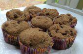 Sans gluten et sans lait chocolat puce Muffins lin