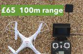 Bon marché prêt-à-voler FPV quadcopter: £65 / 100 $, 100 m plage à l'extérieur