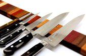 Bande arc-en-ciel bois magnétique couteau