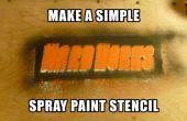 Pochoir de peinture en aérosol simple