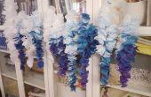 Pétale Wisteria/lilas, fleurs de l'Ombre de soie