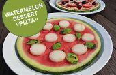 Dessert de melon d'eau « Pizza »