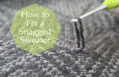 Comment réparer un pull accroché