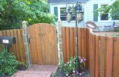 Construire une clôture en bois courbé