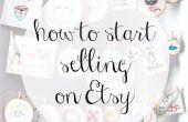 Comment mettre en vente sur Etsy