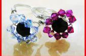 Comment faire le tutoriel d'anneau fileté Fleur cristal