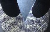 BRICOLAGE à rayures fil pantoufles
