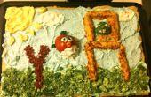 Angry Birds végétale Pizza