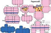 Comment faire Sen La Miss papercraft robot