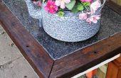 Table d'appoint jardin avec hard top de Pierre (tous les matériaux réutilisés)