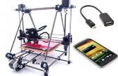 Contrôle de l'imprimante 3D Android