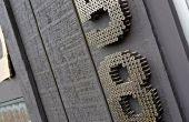 Numéros de maison industrielle moderne