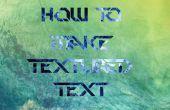 Comment faire mesurée « Texte » texte