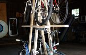 Porte-vélos bois pour 5 vélos, rapide et faible coût Build