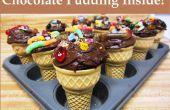 Muddy délice chocolat Cupcake cône