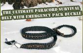 Boucle de ceinture de Paracord ultime survivant avec la trousse de survie (moins de 20 $)