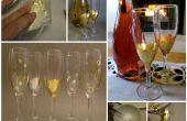 Flûtes à Champagne à feuilles or