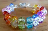 Bracelet macramé perlé