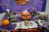 Halloween party table props