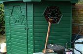Abri de jardin hexagonal