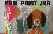 Patte de chien impression Treat Jar