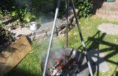 Trépied Barbecue feu de camp