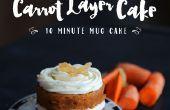 10 minutes en couches carotte Mug Cake
