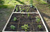 Comment faire un simple pieds carrés jardin !