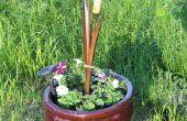 How-to créer un planteur stand du morceau de bois & une vieille jante...