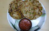 Paratha avec pois vert - pomme de terre Masala en peluche