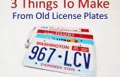 3 choses à faire des plaques d'immatriculation anciennes