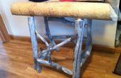 Reycycled naturelle castors mâchés table en bois rustique, le seul au monde