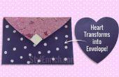 BRICOLAGE papier Craft : Apprenez comment un cœur en forme de papier transformé en belle enveloppe en seulement 5 minutes !