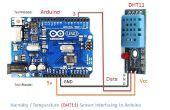 Comment faire pour l'humidité et capteur de température (DHT11) à Arduino en passant par DHT11 bibliothèque d'interface.