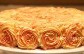 Décoration de gâteau tourbillon rose -