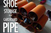Stockage de tubes en carton de chaussures