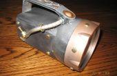 Steampunked : Lampe de poche imperméable à l'eau