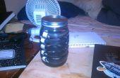 Caoutchouc renforcé bouteille d'eau du bocal en verre