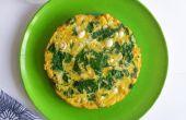Omelette aux champignons Enoki