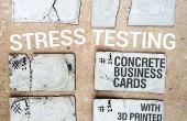 Cartes de visite en béton armé « 3D imprimé »
