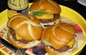 Burgers de bœuf fraîche au sol