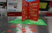 Carte de Noël, gravée laser