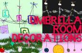 Décorations de chambre de parapluie