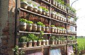 Gites d'arrosage de jardin vertical avec recyclé des bouteilles d'eau