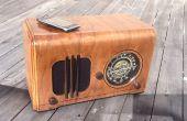 Radio vintage dans un haut-parleur pour un lecteur MP3...