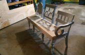 Antique chaise banc