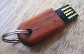 Petite clé USB en bois