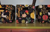 Boîtes de rangement tissu DIY