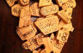 Robots de bloc de bois